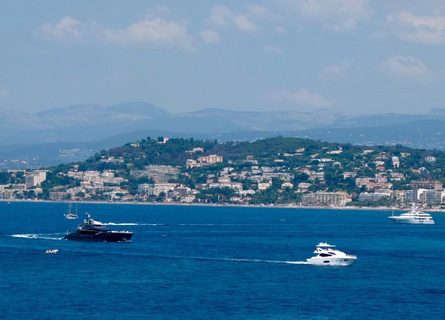 Utsikt mot Cannes.