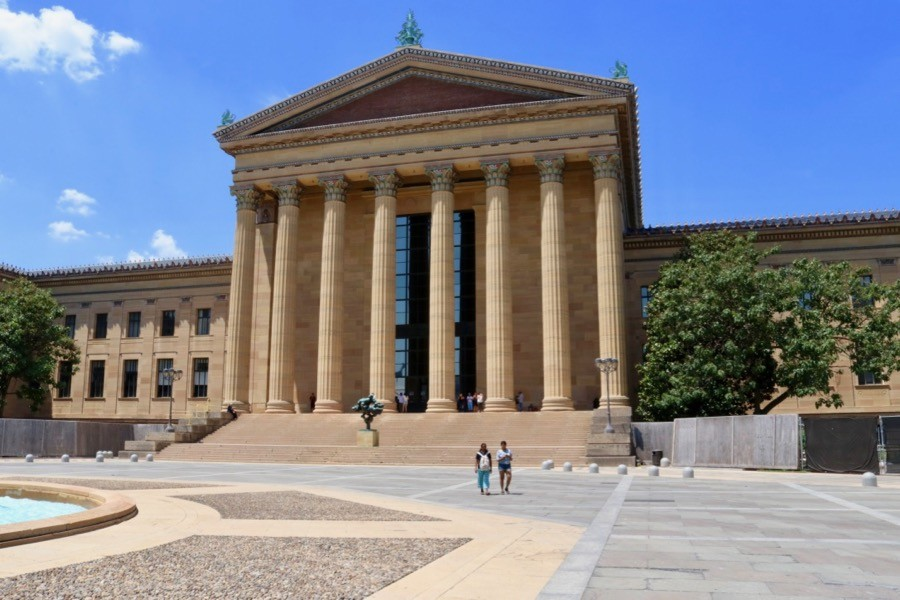 Philadelphia Museum of Art. Pampigt som attans.